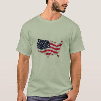 Amerikanische Flagge innerhalb USA T-Shirt