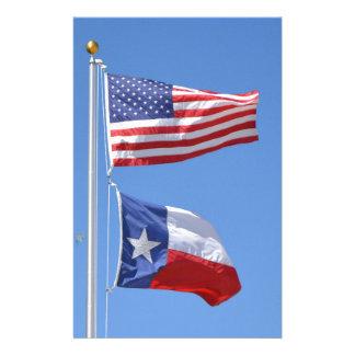 Amerikanische Flagge kennzeichnet Briefpapier