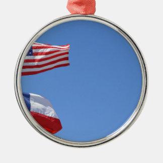 Amerikanische Flagge kennzeichnet Silbernes Ornament