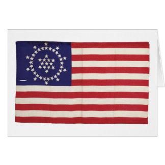 Amerikanische Flagge mit 48 Sternen Whipple Karte