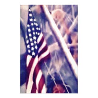 Amerikanische Flagge mit inspirierend Zitat Briefpapier