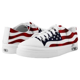 Amerikanische Flagge Niedrig-geschnittene Sneaker