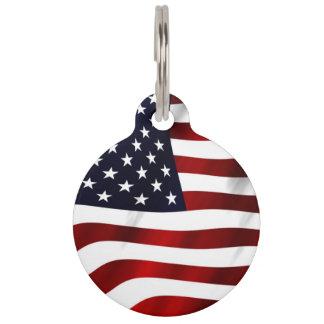 Amerikanische Flagge Tiernamensmarke