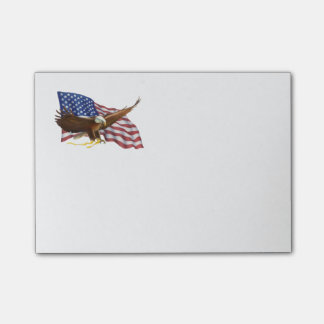 Amerikanische Flagge und Eagle Post-it Klebezettel