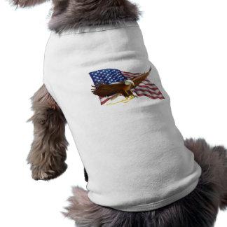 Amerikanische Flagge und Eagle Shirt