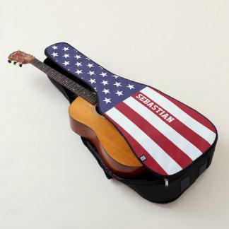 Amerikanische Flagge USA personalisiert Gitarrentasche