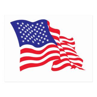 Amerikanische Flagge USA Postkarte