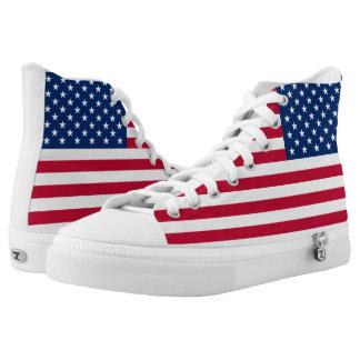 Amerikanische Flagge USA-Stolz Hoch-geschnittene Sneaker
