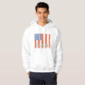 AMERIKANISCHE FLAGGE verblaßte Hoodie