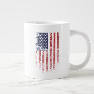 Amerikanische Flagge Vintag - riesige Tasse