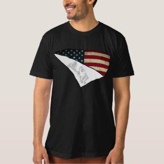 amerikanische Flagge zerrissener Text USA T-Shirt