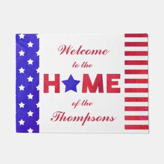 Amerikanische Flagge - Zuhause - Türmatte