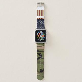 Amerikanische Flaggen-Camouflage Apple Watch Armband