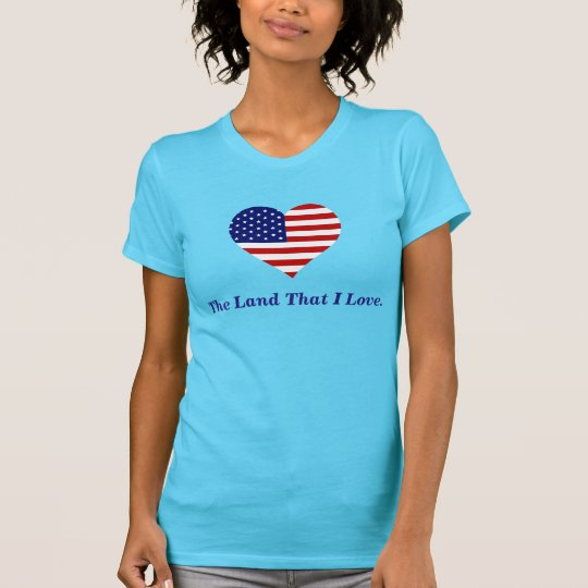 Amerikanische Flaggen-Herz Amerika das Land diese T-Shirt