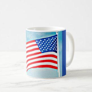 Amerikanische Flaggen-klassische Kaffee-Tasse Tasse
