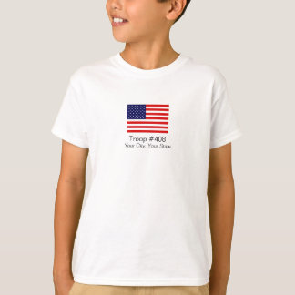 Amerikanische Flaggen-Pfadfinder-Truppe-Shirt T-Shirt