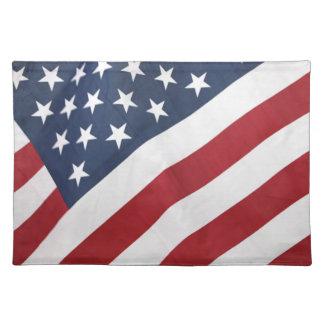 Amerikanische Flaggen-Tischset Tischset