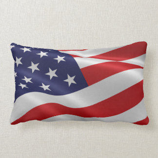 Amerikanische Flaggen-Unabhängigkeitstag-rotes Lendenkissen