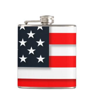 Amerikanische Flaggen-USA Flachmann