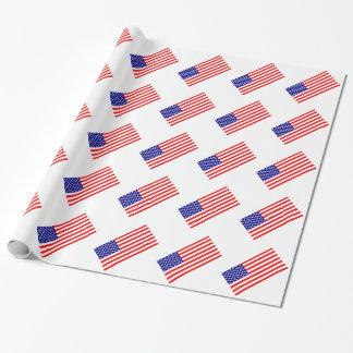 Amerikanische Flaggen USA Geschenkpapier