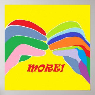 Amerikanische Gebärdensprache MEHR Poster
