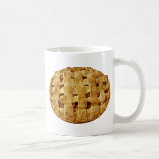 Amerikanische gemachte Apfelkuchen-Zickzack-Kruste Kaffeetasse