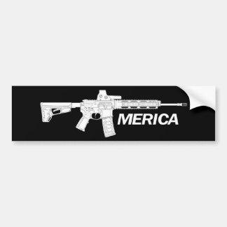Amerikanische Gewehre Autoaufkleber