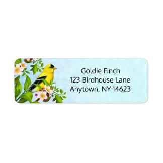 Amerikanische Goldfinch-Vogel-Adressen-Etiketten