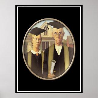 Amerikanische gotische graduierte Miniatur Poster