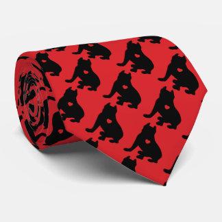 Amerikanische Gruben-Stier-Terrier-Silhouette Krawatte