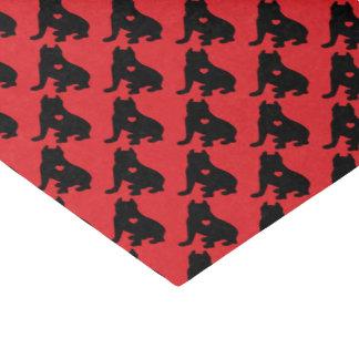 Amerikanische Gruben-Stier-Terrier-Silhouette Seidenpapier