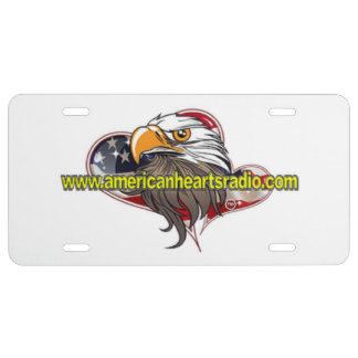 Amerikanische Herz-RadioKfz-Kennzeichen US Nummernschild