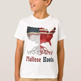 Amerikanische maltesische Wurzeln T-Shirt