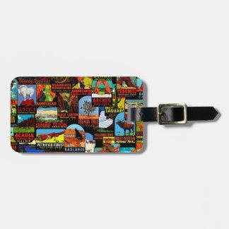Amerikanische Nationalpark-Vintage Kofferanhänger