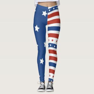 Amerikanische Patriot-Freiheits-Flagge spielt Leggings