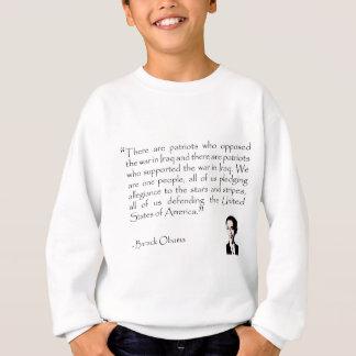Amerikanische Patrioten zum Krieg entgegengesetzt Sweatshirt