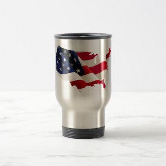 Amerikanische patriotische rostfreier reisebecher