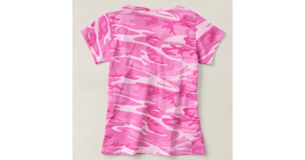 amerikanische rote rosa cammo damen t shirt zazzle. Black Bedroom Furniture Sets. Home Design Ideas