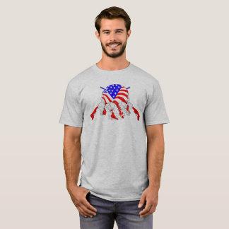 Amerikanische Schädel-Kreuz-Gewehre T-Shirt