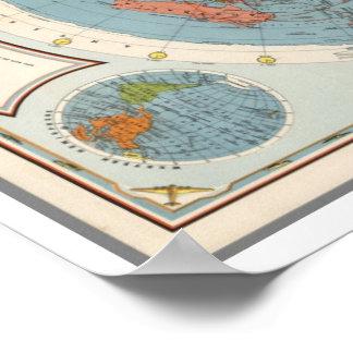 Amerikanische Schule CBSs der Karte der Luft-| der Poster