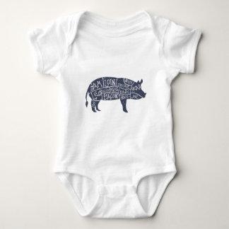 Amerikanische Schweinefleischstücke, Vintages Baby Strampler