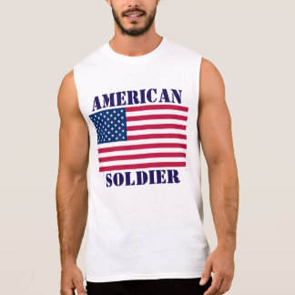 Amerikanische Soldat-amerikanische Flagge Ärmelloses Shirt
