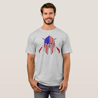 Amerikanische spartanische RWB Quergewehre T-Shirt