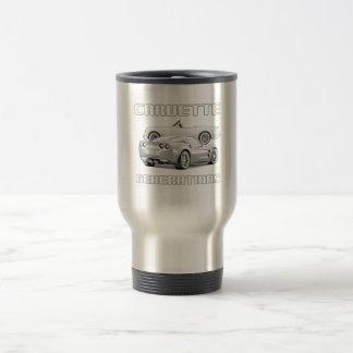Amerikanische Sport-Auto-Ikone Edelstahl Thermotasse