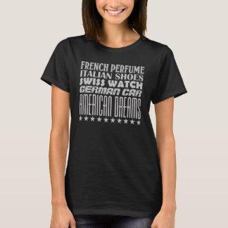 Amerikanische Träume - Mischtypographie (grau) T-Shirt