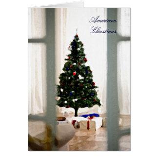 Amerikanische Weihnachtskarte Grußkarte