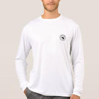 Amerikanischer Adel-Logo Sport-Tek lange Hülse T-Shirt