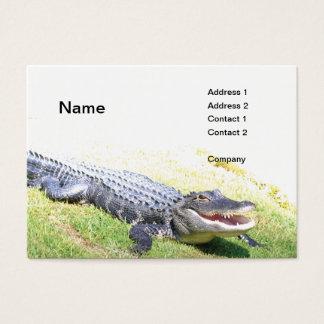 amerikanischer Alligator Visitenkarte