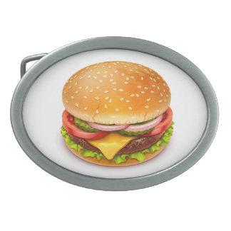 Amerikanischer Burger-ovale Gürtelschnalle