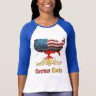 Amerikanischer Deutscher wurzelt Damen-T - Shirts